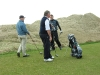 Journalists on the tee at Cruden Bay